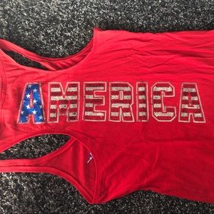 Pink Victoria's Secret Fitted Bling Americana Tank